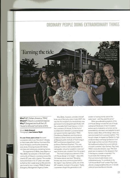 TRAC LA Lift House Article in LIV Magazine